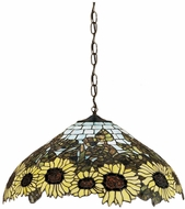 Meyda Tiffany 47628 Wild Sunflower Tiffany Drop Ceiling Lighting