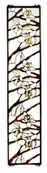 Meyda Tiffany 47887 Magnolia 23 Inch Tall Rectangular Stained Glass Window D�cor