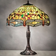 Meyda Tiffany 47960 Tiffany Hanginghead Dragonfly Tiffany Mahogany Bronze Table Lighting
