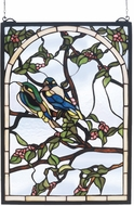 Meyda Tiffany 47966 Lovebirds Stained Glass Panel