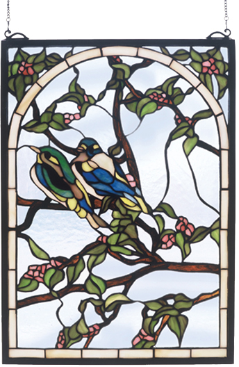Meyda Tiffany 47966 Lovebirds Stained Gl Panel Loading Zoom