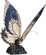 Meyda Tiffany 48016 Butterfly Tiffany Bapa Blue Pink Accent Lamp