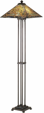 Meyda Tiffany 48023 Knotwork Cambridge Tiffany 2 Bulb Pyramidal Floor Lamp Lighting Fixture