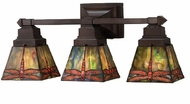 Meyda Tiffany 48036 Prairie Dragonfly Tiffany 3 Light Bath Lighting Fixture