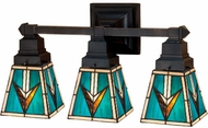 Meyda Tiffany 48042 Valencia Mission 3 Lamp Bathroom Vanity Light Fixture - 20 Inches Wide