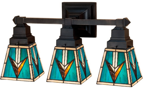 Meyda Tiffany 48042 Valencia Mission 3 Lamp Bathroom Vanity Light Fixture 20 Inches Wide