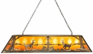 Meyda Tiffany 48172 Deer at Lake Antique Copper Kitchen Island Light