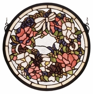 Meyda Tiffany 48324 Wreath & Garland Circular 15 Inch Diameter Stained Glass Wall D�cor