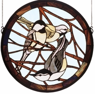 Meyda Tiffany 48607 Early Morning Visitors Tiffany Circular Stained Glass Art