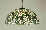 Meyda Tiffany 48624 Sweet Pea Tiffany Drop Lighting Fixture