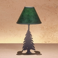 Meyda Tiffany 49810 Tall Pines Country Hunter Green Finish 12  Tall Table Top Lamp