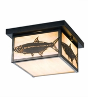 Meyda Tiffany 50088 Tarpon Country Craftsman Brown Ceiling Light Fixture