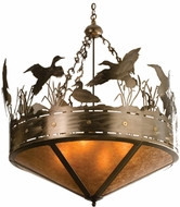 Meyda Tiffany 50142 Ducks in Flight Country Antique Copper Pendant Light Fixture