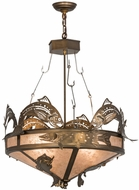 Meyda Tiffany 50168 Catch of the Day Country Antique Copper Hanging Pendant Lighting