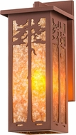 Meyda Tiffany 50762 Tamarack Rust / Amber Mica Sconce Lighting