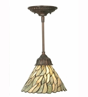 Meyda Tiffany 50863 Jadestone Willow Tiffany 8  Wide Mini Hanging Light