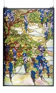 Meyda Tiffany 51338 Tiffany Wisteria & Snowball Tiffany Stained Glass Window
