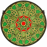 Meyda Tiffany 51527 Knotwork Trance Medallion Tiffany Stained Glass Window