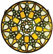 Meyda Tiffany 51531 Knotwork Trance Medallion Tiffany Stained Glass Window