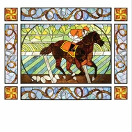 Meyda Tiffany 51638 Saratoga Tiffany Stained Glass Window