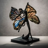 Meyda Tiffany 51816 Butterfly Lady Tiffany Green Novelty Lamp