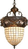 Meyda Tiffany 51850 Greenbriar Oak Country Antique Copper Hanging Lamp