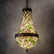Meyda Tiffany 52432 Morning Glory Tiffany Antique Copper Foyer Lighting