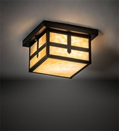 Meyda Tiffany 52717 Hyde Park Mission Craftsman Brown Ceiling Lighting Fixture