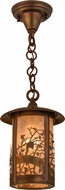 Meyda Tiffany 54034 Fulton Apple Branch Country Silver Mica Vintage Copper Hanging Light Fixture