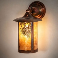 Meyda Tiffany 54247 Fulton Vintage Copper Outdoor Wall Mounted Lamp