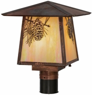 Meyda Tiffany 54862 Stillwater Winter Pine Bai Vintage Copper Outdoor Post Lighting