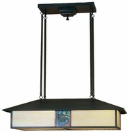 Meyda Tiffany 56401 Customizable Craftsman 35 inchL Indoor/Outdoor Ceiling Light