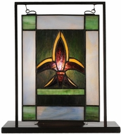 Meyda Tiffany 56832 Fleur-de-lis Tiffany Stained Glass Window