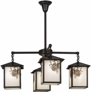 Meyda Tiffany 60911 Seneca Winter Pine Craftsman Ceiling Chandelier