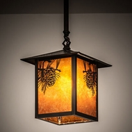 Meyda Tiffany 62030 Seneca Craftsman Brown Hanging Light