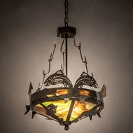 Meyda Tiffany 65041 Catch of the Day Timeless Bronze Pendant Light Fixture