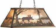 Meyda Tiffany 65097 Moose at Lake Antique Copper Kitchen Island Light
