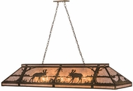 Meyda Tiffany 65107 Moose at Lake Antique Copper/Silver Mica Island Light Fixture
