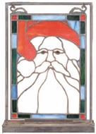 Meyda Tiffany 65250 Santa Head Tiffany Mini Tabletop Window