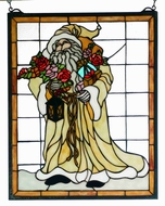 Meyda Tiffany 65264 Father Christmas Tiffany Window