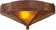 Meyda Tiffany 65736 Rainbow Trout Amber Mica 16 Inch Diameter Flush Mount Lighting