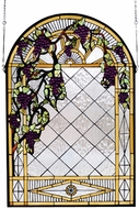 Meyda Tiffany 66048 Jeweled Grape Diamond Trellis Stained Glass Art