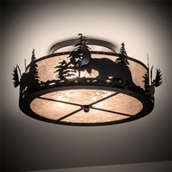 Meyda Tiffany 66207 Moose at Dusk Flush Lighting