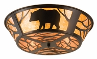 Meyda Tiffany 66209 Black Bears at Dusk Rustic Ceiling Light
