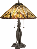 Meyda Tiffany 66224 Nuevo Mission Tiffany Beige Table Lighting