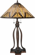 Meyda Tiffany 66226 Nuevo Mission Tiffany Beige Lighting Table Lamp