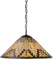 Meyda Tiffany 66227 Nuevo Mission Tiffany Beige Hanging Light