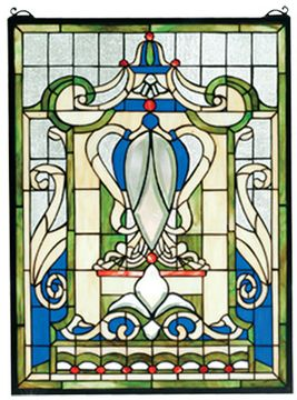 Meyda Tiffany 66279 Royal Blue Windsor Tiffany Stained Glass Window