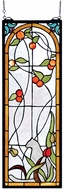 Meyda Tiffany 67117 Cat & Tulips Hanging Stained Glass Panel
