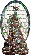 Meyda Tiffany 67135 Peacock Profile Tiffany Hanging Stained Glass Window Art